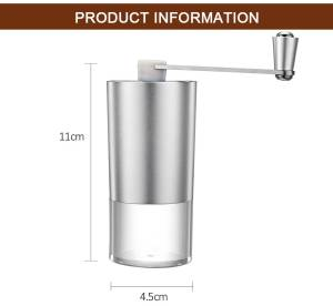 Mini Manual Coffee Grinder with Transparent Body Adjustable, Ceramic Millstone 5