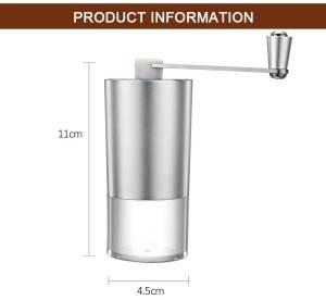 Mini Manual Coffee Grinder with Transparent Body Adjustable, Ceramic Millstone 5