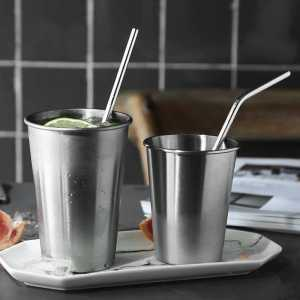 Reusable Bent Straight Stainless Steel Straws (Metal Straw 2