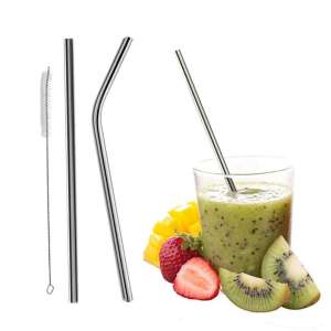 Reusable Bent Straight Stainless Steel Straws (Metal Straw 4