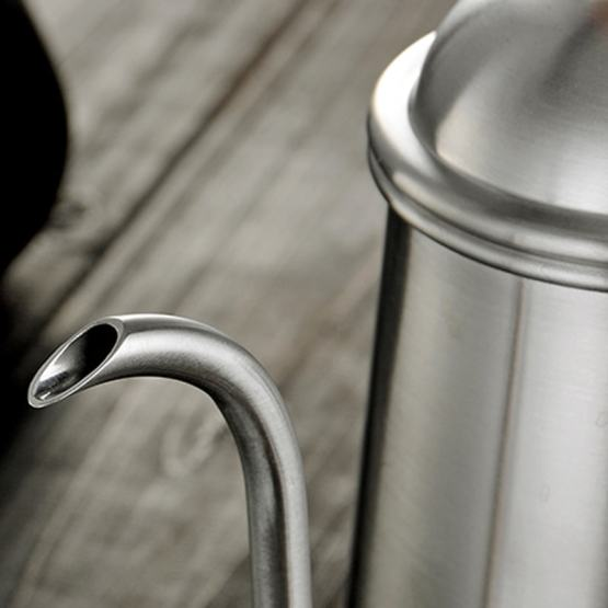 Stainless Steel Gooseneck Coffee Pot with Lid Spout -Pour Over