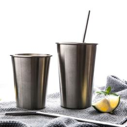 Stainless Steel Pint Cups - Durable Kids Cup Metal Tumblers