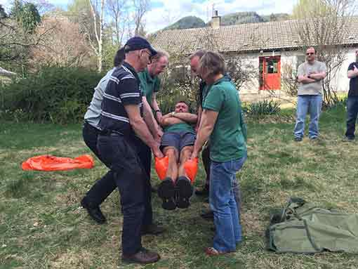 Outdoor first aid courses Scotland and forestry First Aid Efaw+F training