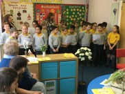 Parents friends and carers' Easter prayer meeting in our Hosanna Room School Prayer Space
