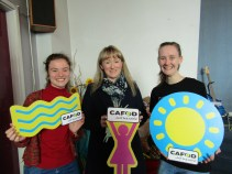 Lizzie with her MP and volunteer, Sophie