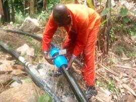CAFOMI wash team embark on repairing water transmission pipeline in Bubukwanga to boost water supply