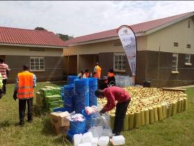 Preparations at a distribution point in Sironko district
