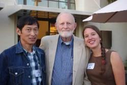 Percy Honniball, Joe McBride and Christina Restaino