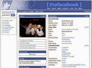 Tampilan Linimasa Facebook Jadul