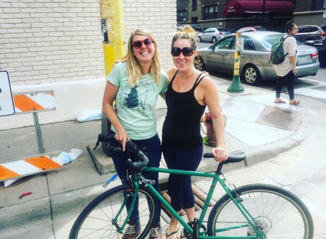 Selling my bike to a new-to-gravel-riding female cyclist.