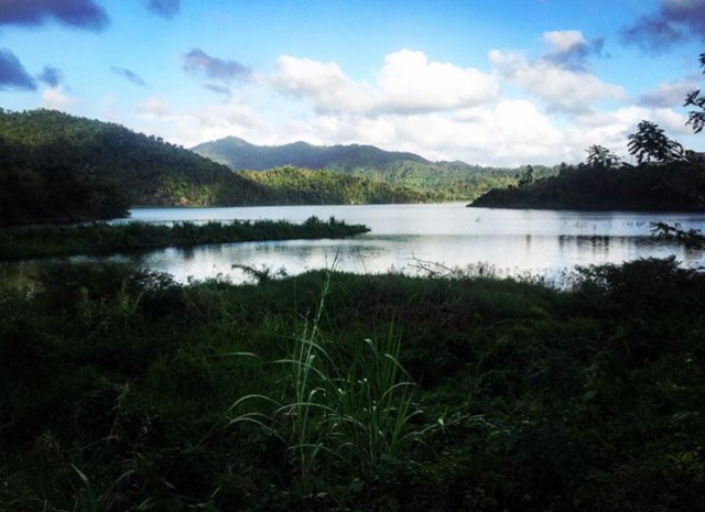 Lake Patillas in Puerto Rico during a bikepacking trip