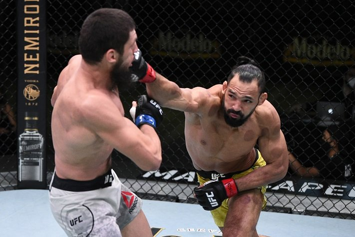 UFC Vegas 9 Results: Tamer Michel Pereira Gets Late Choke On Zelim Imadaev