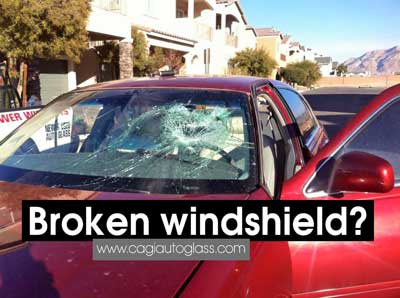 broken windshield repair las vegas