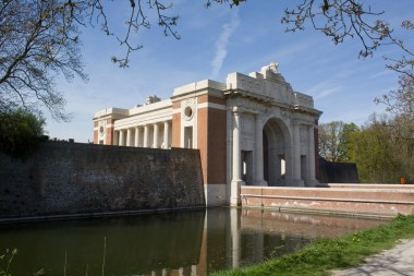 The Menin Gate was so named because here the road out of Ypres passed through the old wall defences going in the direction of Menin.