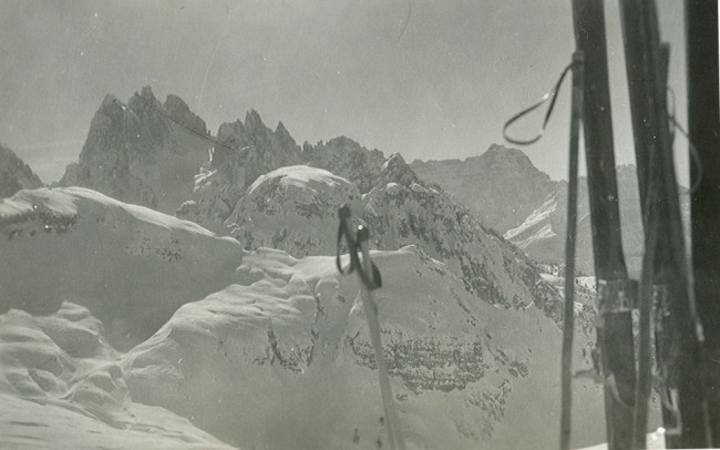 Rifugio Principe Umberto, at the Cime di Lavaredo, January 1936