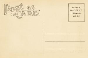 postcard one cent stamp
