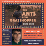 SUN 9/26, 5:30PM PT: CAGJ presents a special virtual screening of The Ants & the Grasshopper