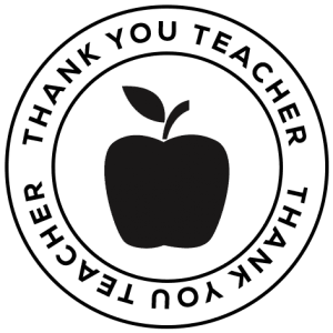 Stamp - Thank You Teacher Apple Stamp-600x600