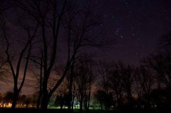 Night Shot at Baw Beese Lake