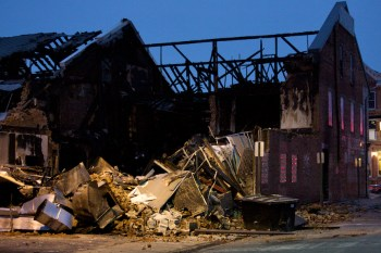 Aftermath of Chicago Water Grill Fire
