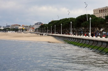 The breakwater and oceanfront