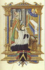 Cahiers de la Haute-Loire. Année 2010. Livre d'heures de Gotha, représentation du donateur.