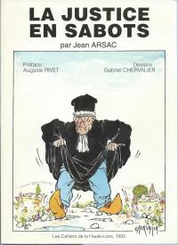 Cahiers de la Haute-Loire. Année 1993. Couverture de la justice en sabots