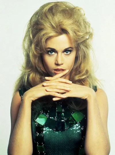 No Merchandising. Editorial Use Only Mandatory Credit: Photo by SNAP / Rex Features (390940hr) 'BARBARELLA' WITH 1968, JANE FONDA, PORTRAIT STUDIO, BOUFFANT, HEAD SHOT IN 1968 VARIOUS