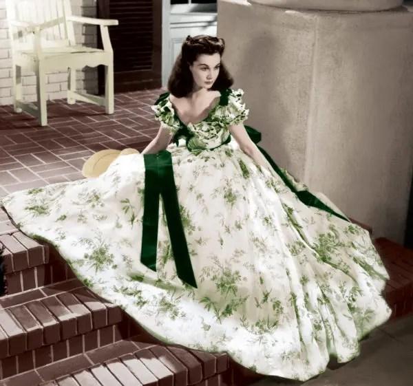 スカーレット・ルックPART2グリーン・フローラル・ドレス