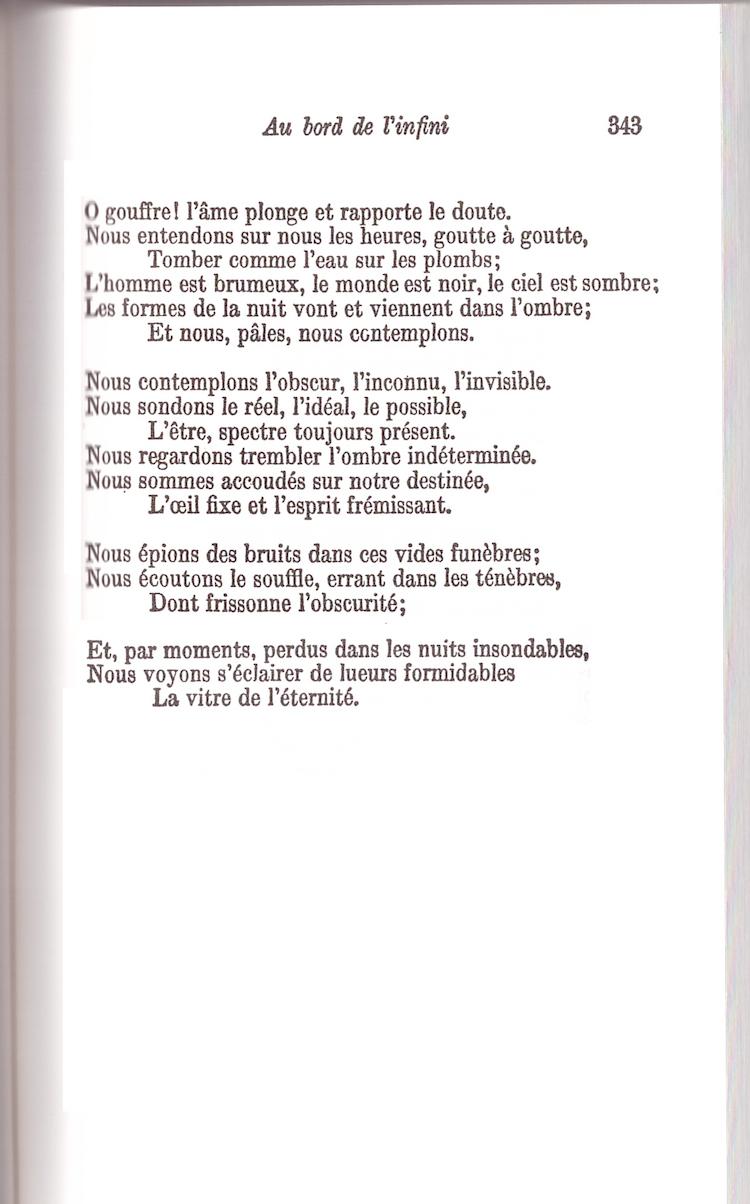 Au bord de linfini Victor Hugo  Cahiers libres