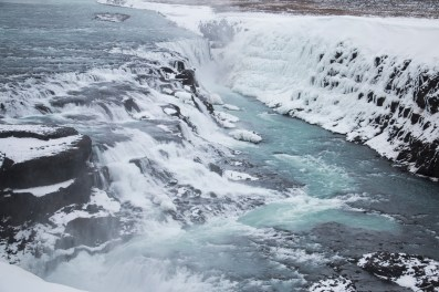 Gulfoss Waterfall.