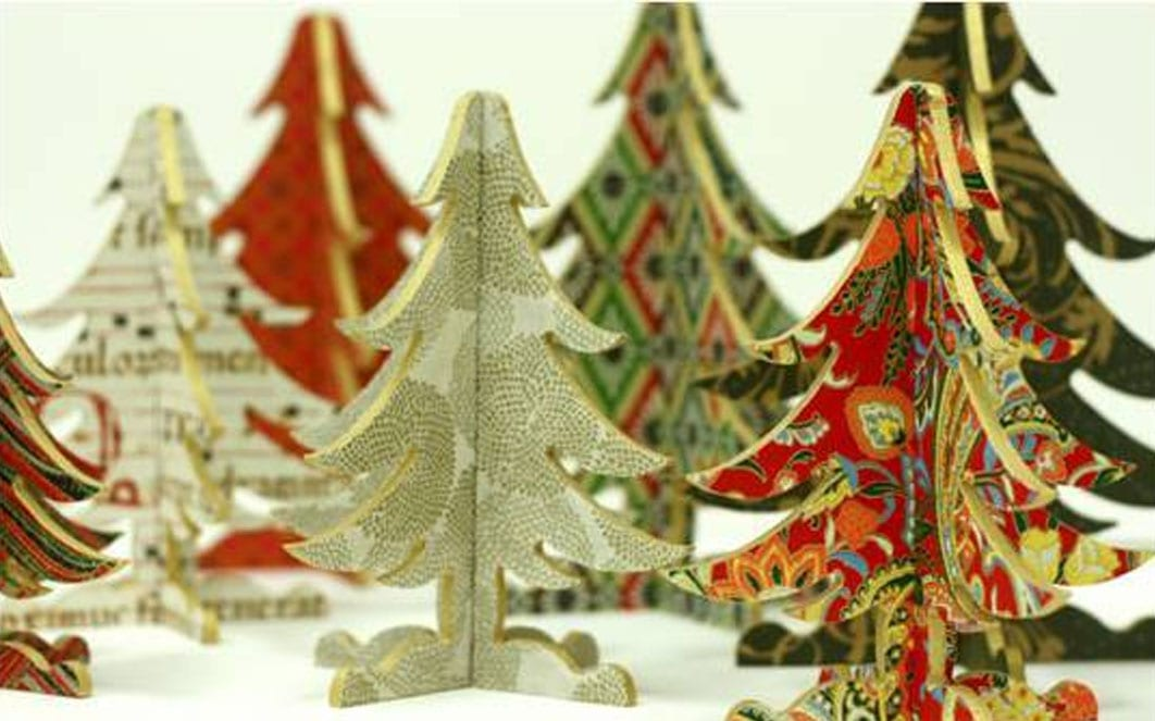 A Paper Forest: Wooden & Paper Trees
