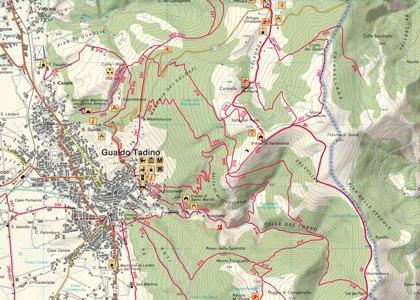 Cartina dei sentieri