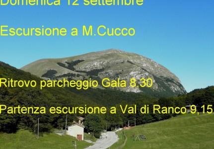 Domenica 12 settembre Escursione a M.Cucco