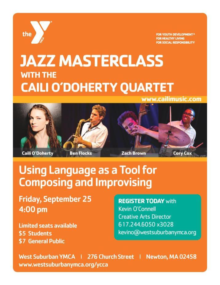 Caili O Doherty Jazz Masterclass 9.25