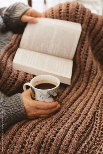Tea, blanket and books ..