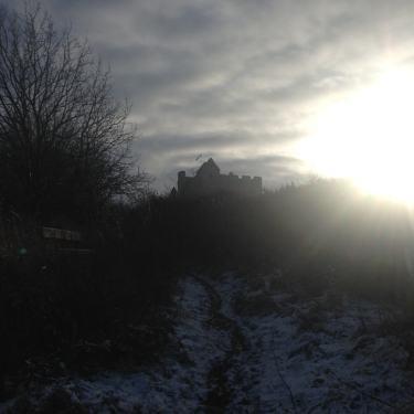 Fa'side Castle and Winter sun Féill Bríd