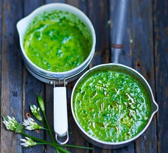 wild garlic and nettle soup