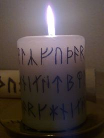 Home made Yule Candle
