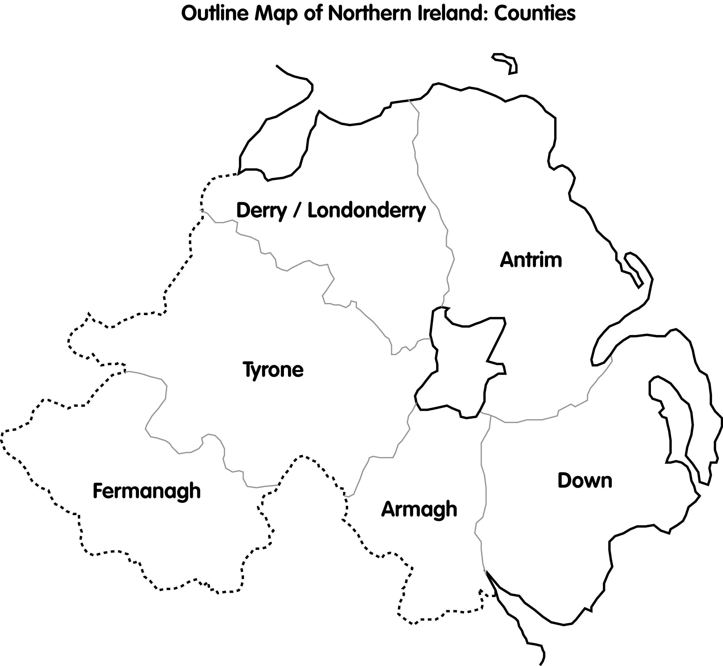 World Map Ireland Worksheet