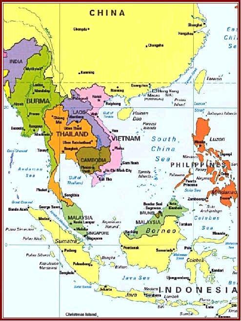 Map Of Singapore And China : singapore, china, South, China, Thailand, Malaysia, Vietnam, Cambodia, Myanmar/Burma, Singapore, Sumatra