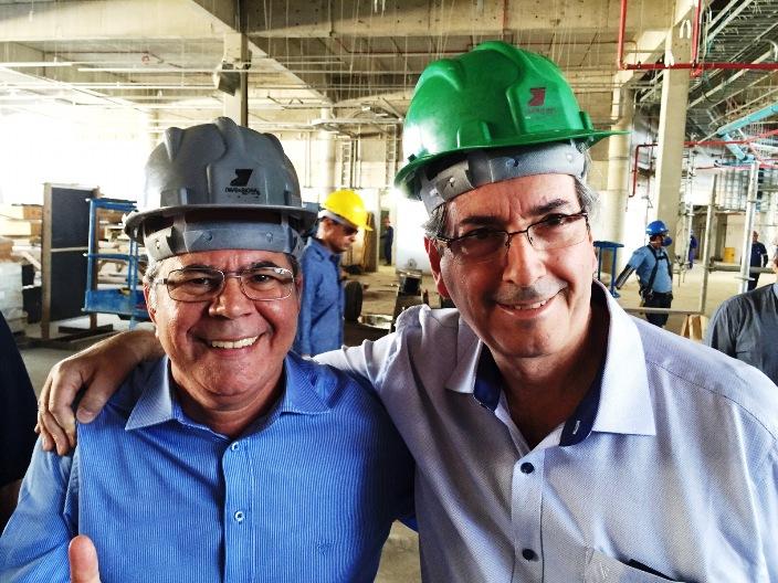 Deputado Hildo Rocha com o pres da câmara Eduardo Cunha