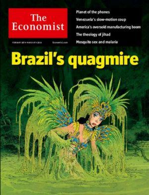 """""""O atoleiro do Brasil"""" na nova edição da Economist (reprodução)"""