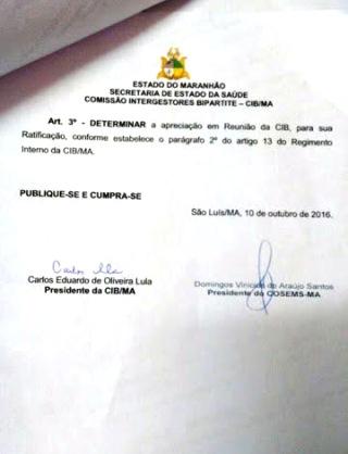 Resolução da Comissão Bipartite foi feita em tempo recorde