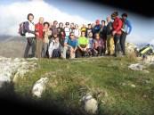 Foto di gruppo in vetta al monte Chiappozzo m. 1126