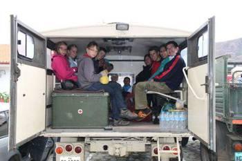On their way to Huerta Alta