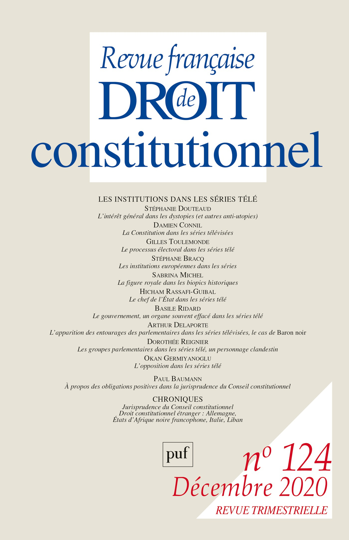 Revue doctrinale - Conseil constitutionnel