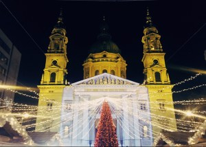 St. Stephen's Basilica in Budapest is already a showstopper, but even more so at Christmastime. And, it's just one of many beautiful scenes in the city. Click to read all about Budapest's best Christmas markets, and where to find them!