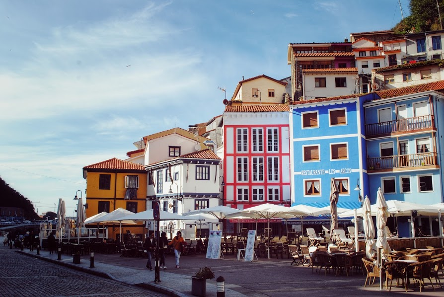 Colorful Buildings in Cudillero, Spain