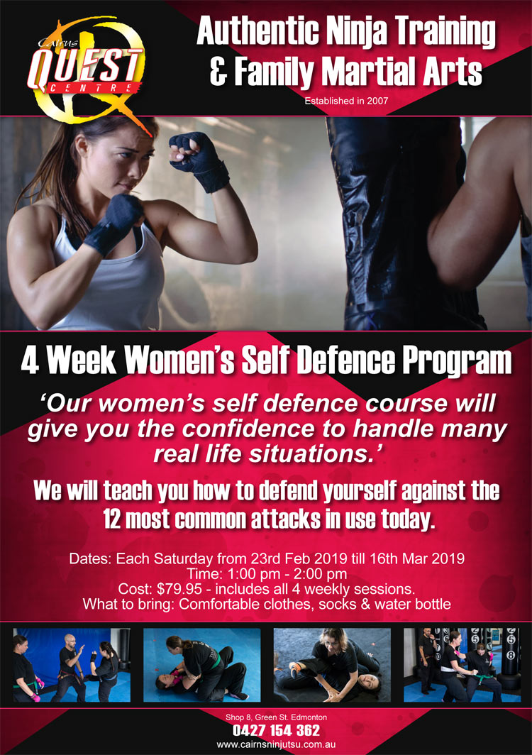 4 Week Women's Self Defence Program